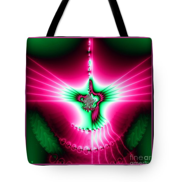 Fractal 11 Holy Spirit Tote Bag by Rose Santuci-Sofranko