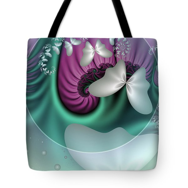 Fractal A Dream Of Butterflies Tote Bag