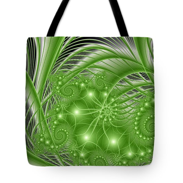 Fractal Abstract Green Nature Tote Bag