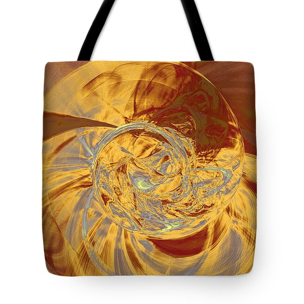 Fractal Ammonite Tote Bag by Menega Sabidussi