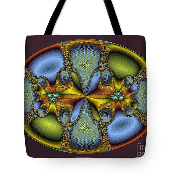 Fractal Art Egg Tote Bag