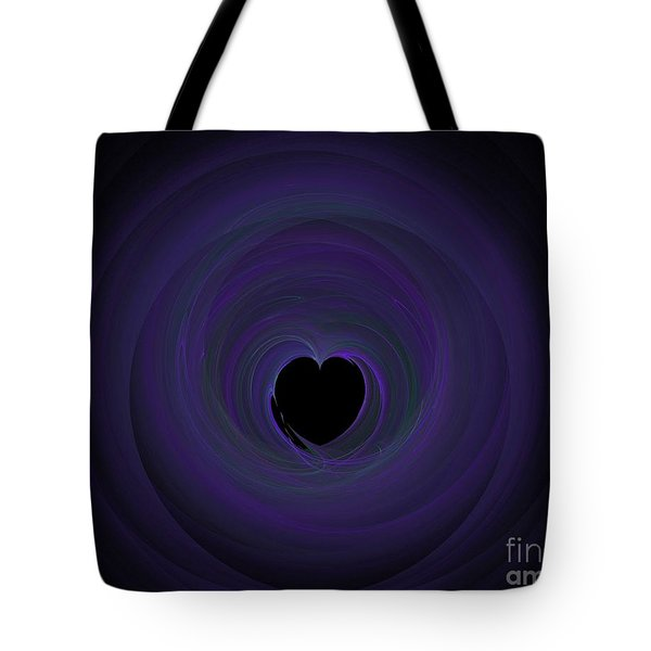 Tote Bag featuring the digital art Fractal Blue by Henrik Lehnerer