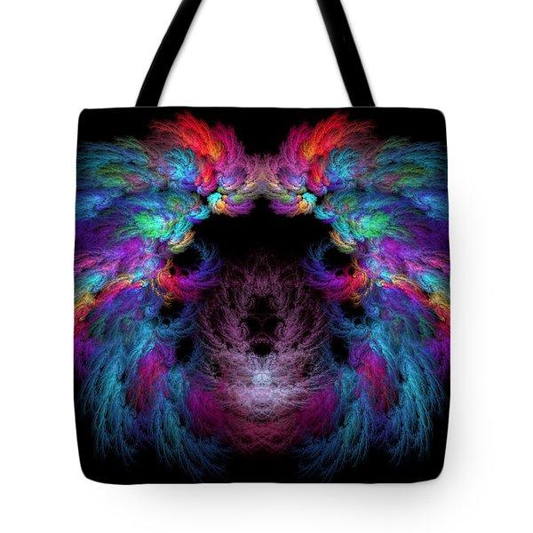Fractal - Christ - Angels Wings Tote Bag by Mike Savad