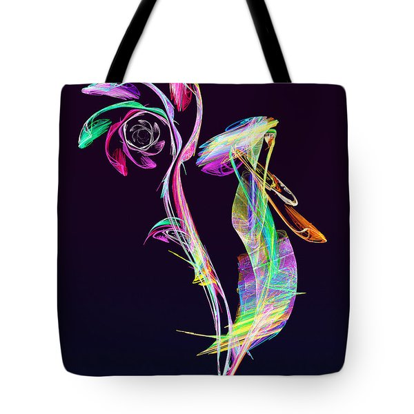 Fractal - Cockatoo Tote Bag by Susan Savad