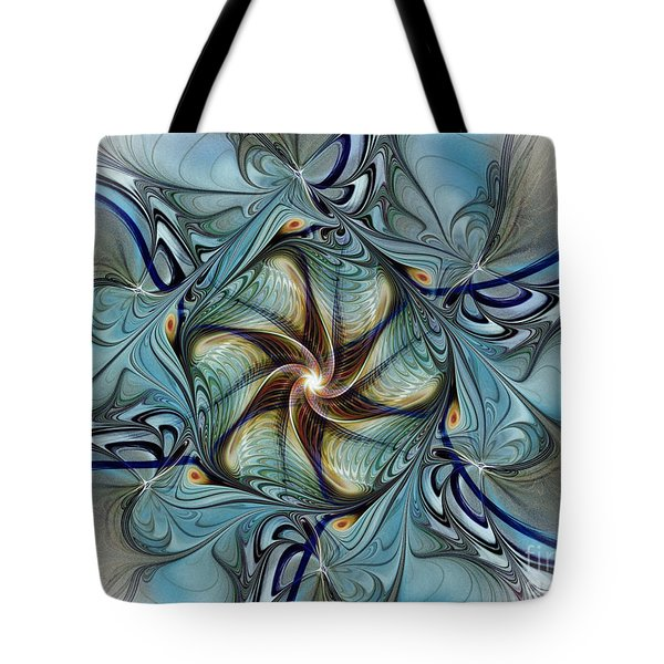 Fractal Composition In Art Deco Style Tote Bag