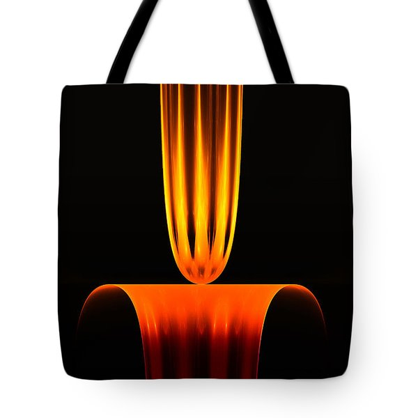 Tote Bag featuring the digital art Fractal Flame by GJ Blackman