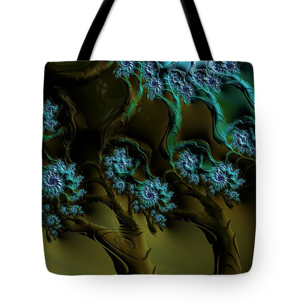 Fractal Forest Tote Bag by GJ Blackman