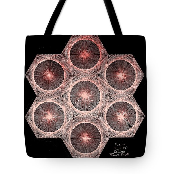 Fractal Fusion Hw Equals Mc Squared Tote Bag by Jason Padgett