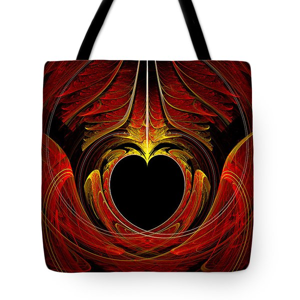 Fractal - Heart - Victorian Love Tote Bag by Mike Savad