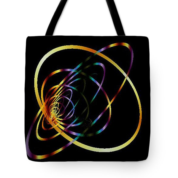 Fractal Hoops Tote Bag by Mikki Cucuzzo