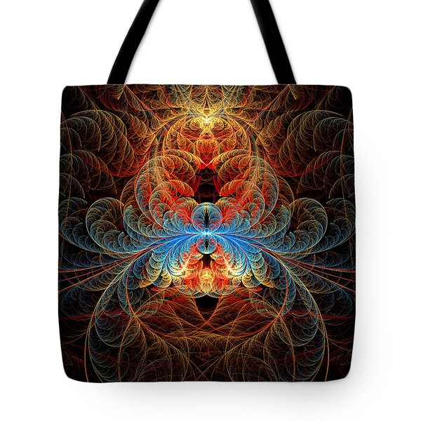 Fractal - Insect - Black Widow Tote Bag by Mike Savad