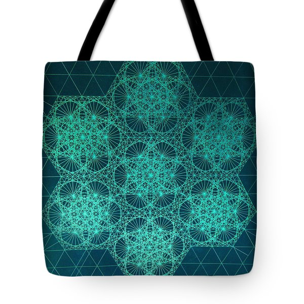 Tote Bag featuring the drawing Fractal Interference by Jason Padgett