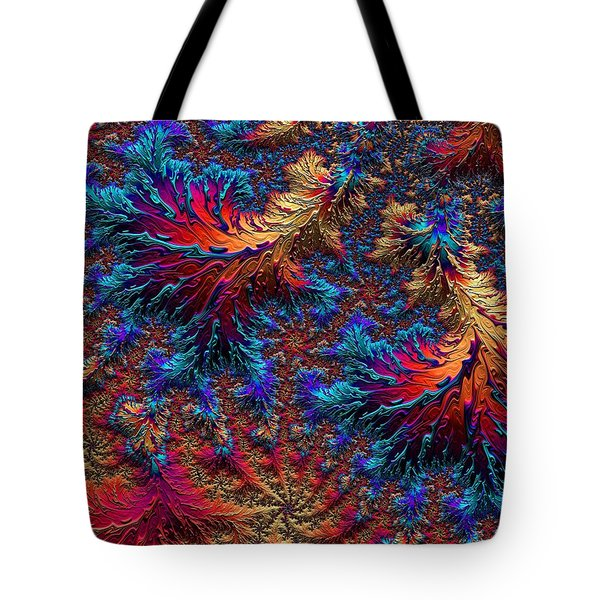 Fractal Jewels Series - Beauty On Fire II Tote Bag
