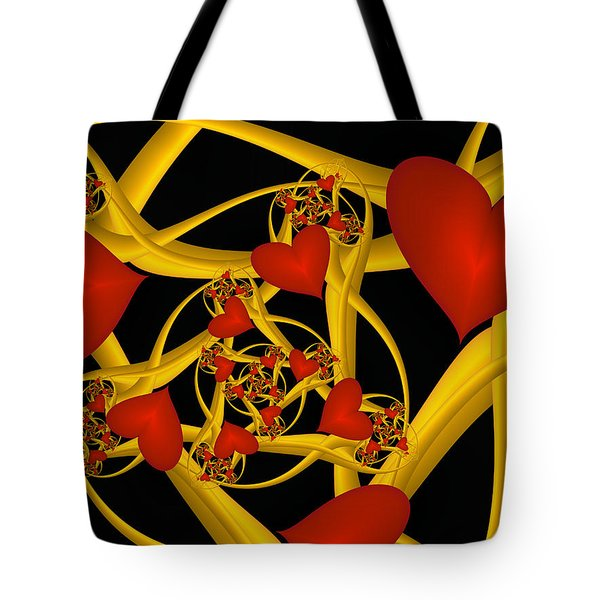 Fractal Love Ist Gold Tote Bag