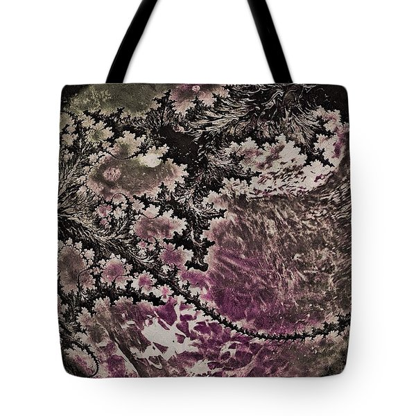 Tote Bag featuring the digital art Fractal Moon by Susan Maxwell Schmidt