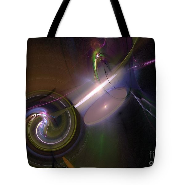 Tote Bag featuring the digital art Fractal Multi Color by Henrik Lehnerer