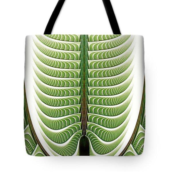Tote Bag featuring the digital art Fractal Pine by Anastasiya Malakhova