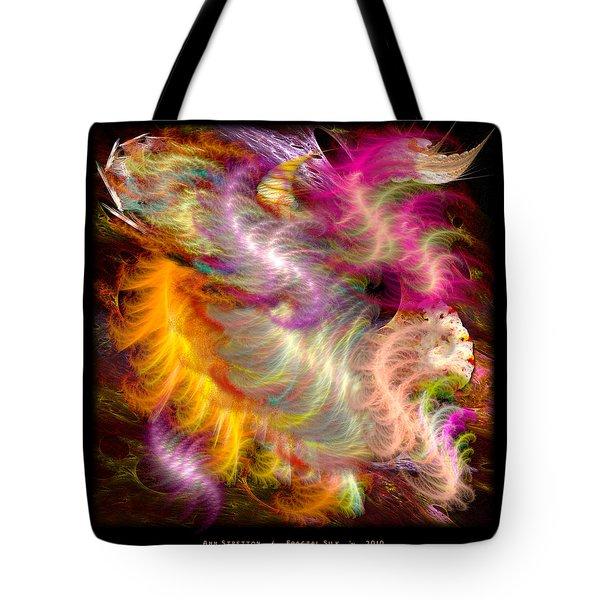 Fractal Silk Tote Bag