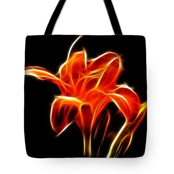 Fractaled Lily Tote Bag