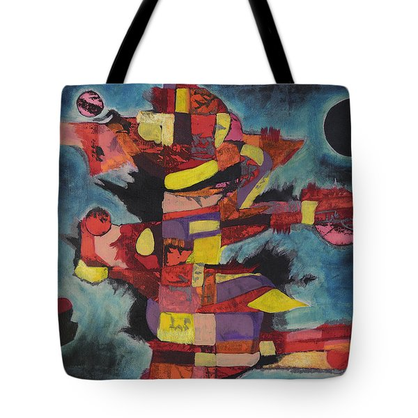 Fractured Fire Tote Bag by Mark Jordan