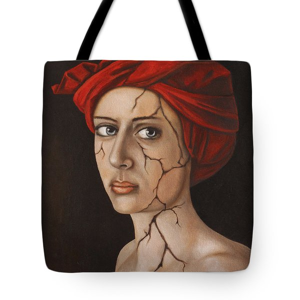 Fractured Identity Edit 1 Tote Bag by Leah Saulnier The Painting Maniac