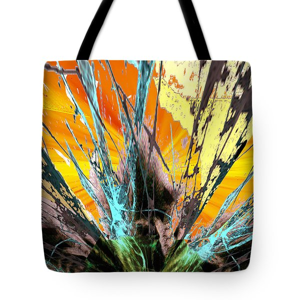 Fractured Sunset Tote Bag