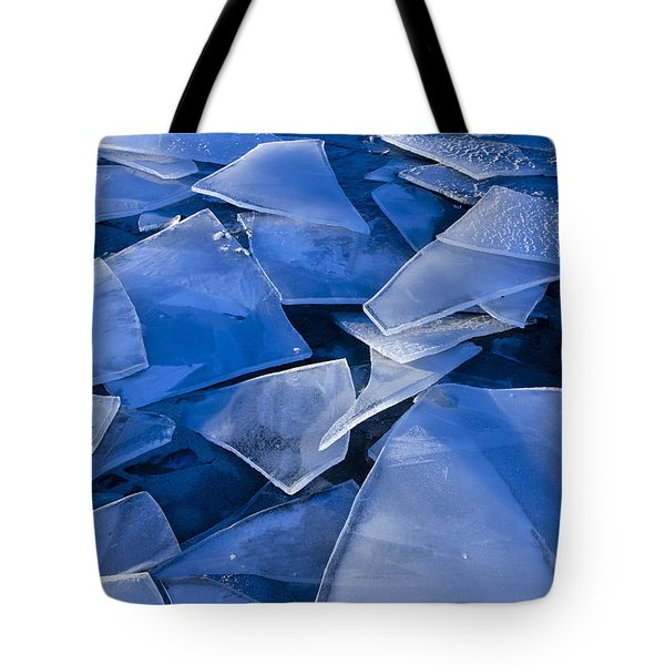 Fractured Surface Ice Drifted To The Tote Bag by John Hyde
