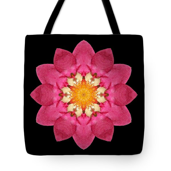 Fragaria Flower Mandala Tote Bag