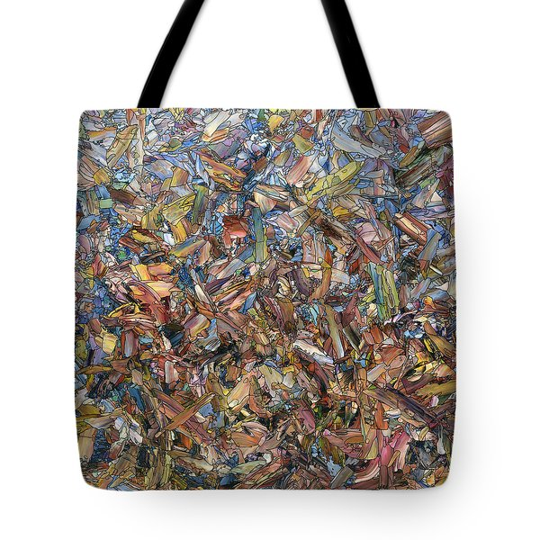 Tote Bag featuring the painting Fragmented Fall - Square by James W Johnson
