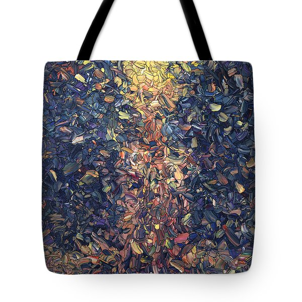 Tote Bag featuring the painting Fragmented Flame by James W Johnson