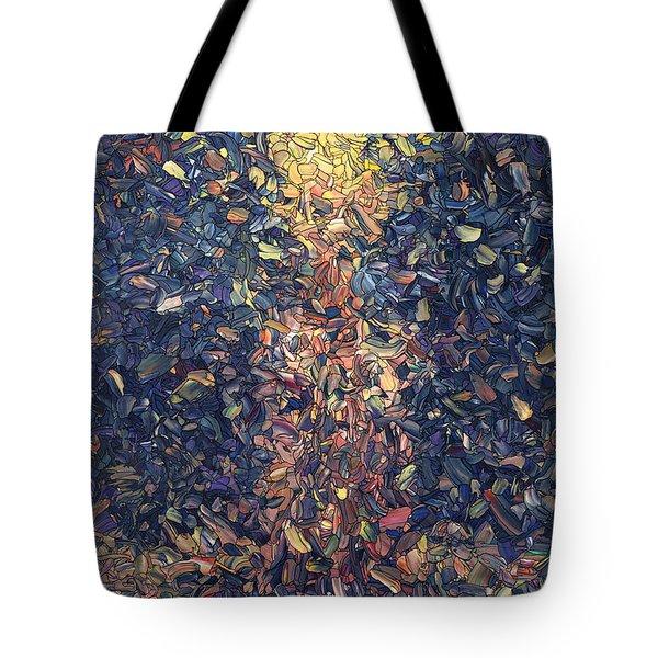 Fragmented Flame Tote Bag