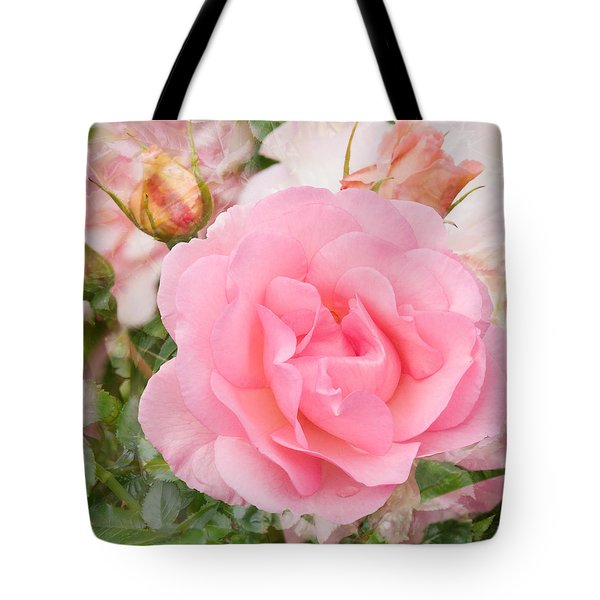Fragrant Cloud Rose Tote Bag by Jane McIlroy