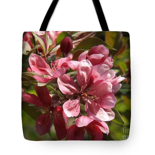 Fragrant Crab Apple Blossoms Tote Bag