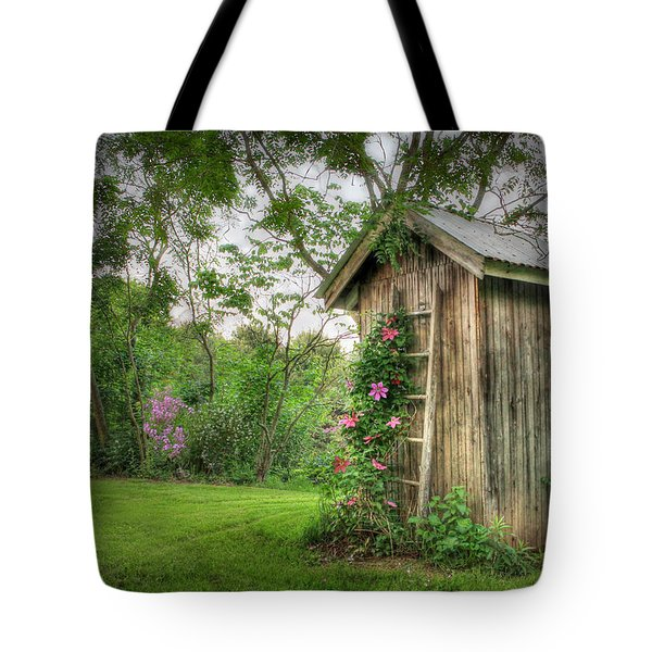 Fragrant Outhouse Tote Bag by Lori Deiter