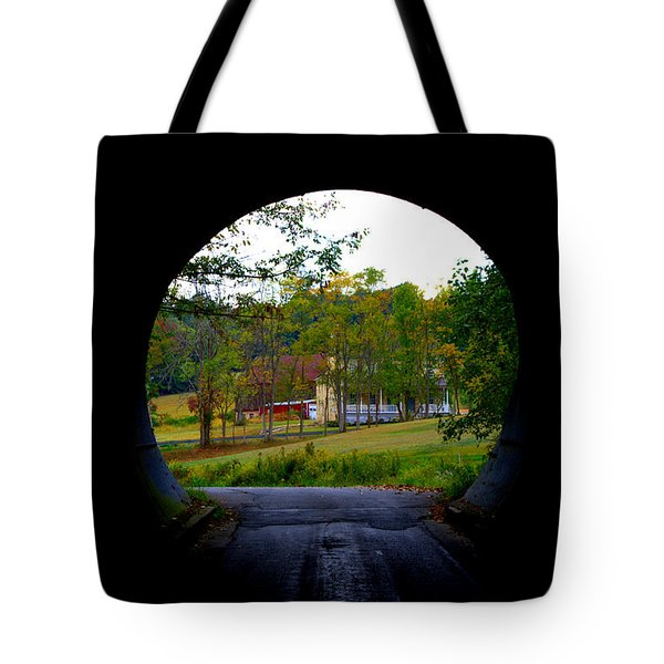 Framed By A Tunnel Tote Bag by Cathy Shiflett