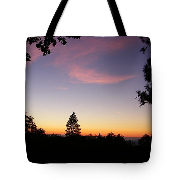 Framed Pink Clouds Tote Bag