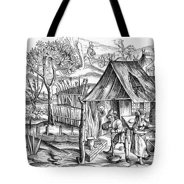 France Bread Making, 1517 Tote Bag