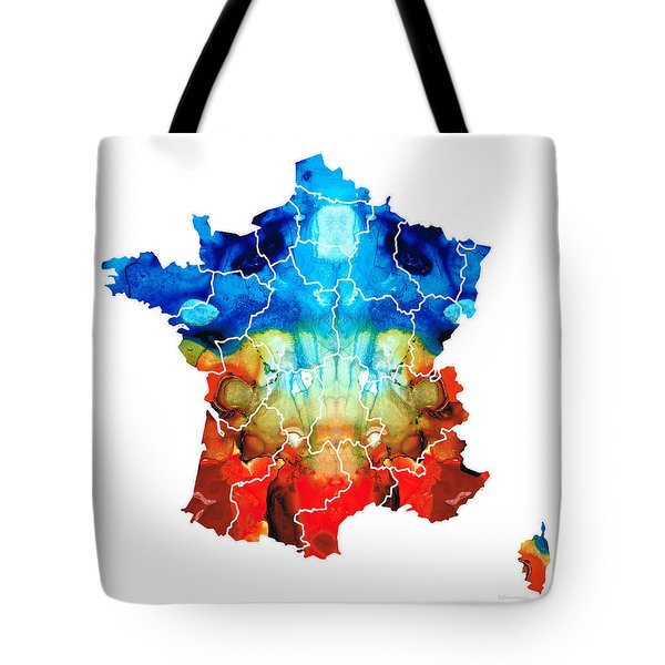 France - European Map By Sharon Cummings Tote Bag by Sharon Cummings