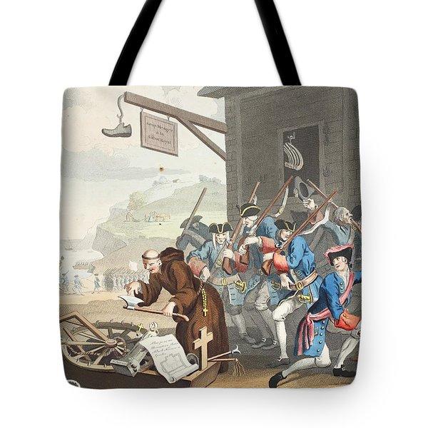 France, Illustration From Hogarth Tote Bag