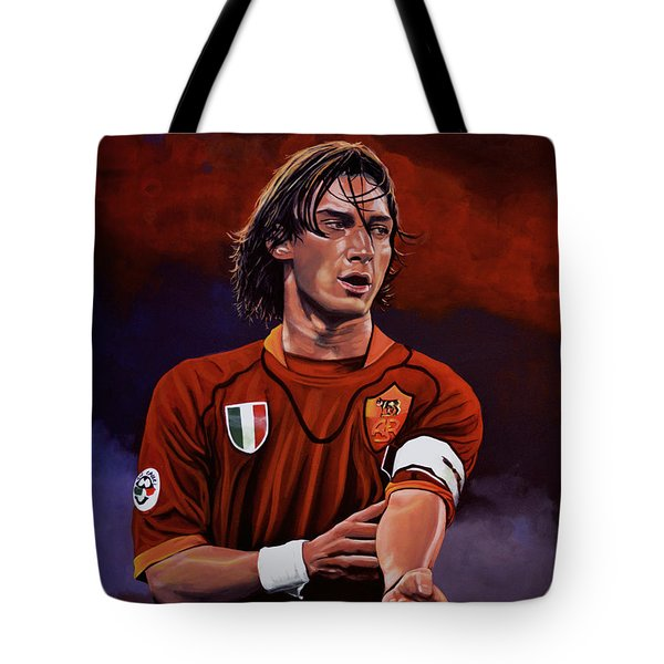 Francesco Totti Tote Bag by Paul Meijering