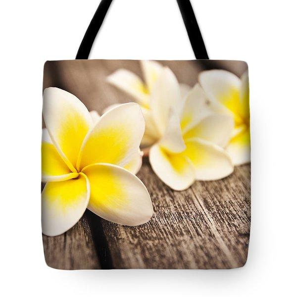 Frangipani Flower Tote Bag