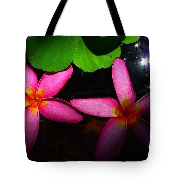 Frangipani Flowers On Water Tote Bag