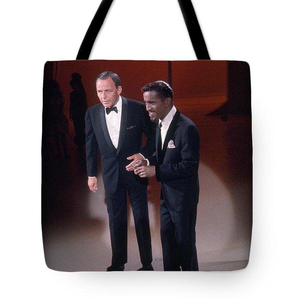 Frank Sinatra And Sammy Davis, Jr Tote Bag