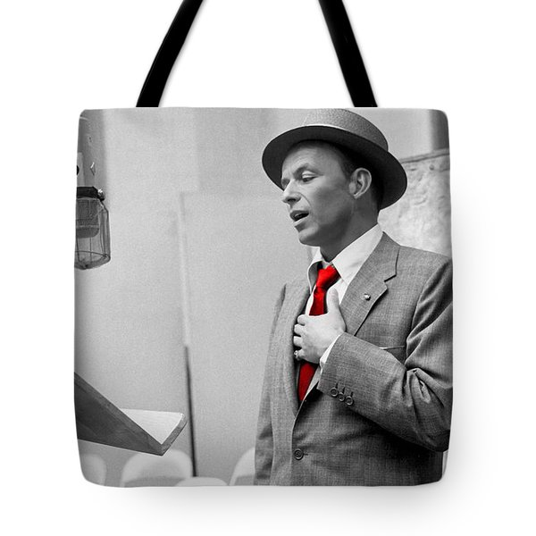 Frank Sinatra Painting Tote Bag by Marvin Blaine
