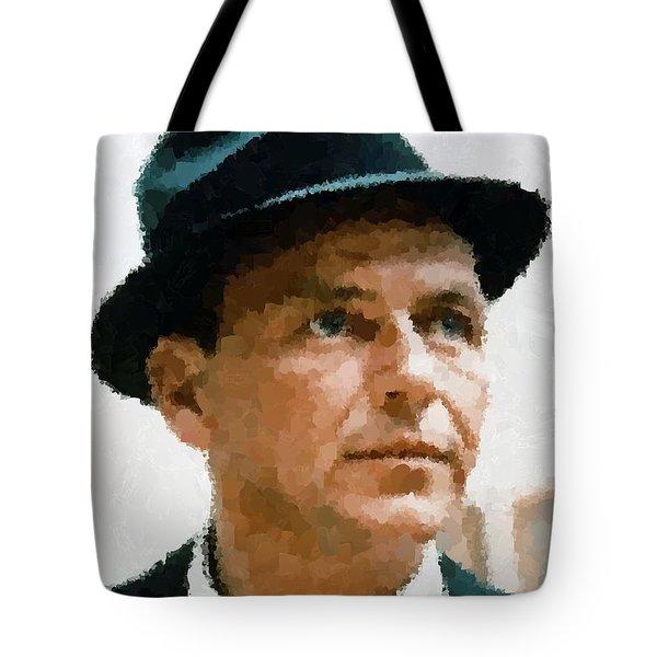 Frank Sinatra Portrait Tote Bag