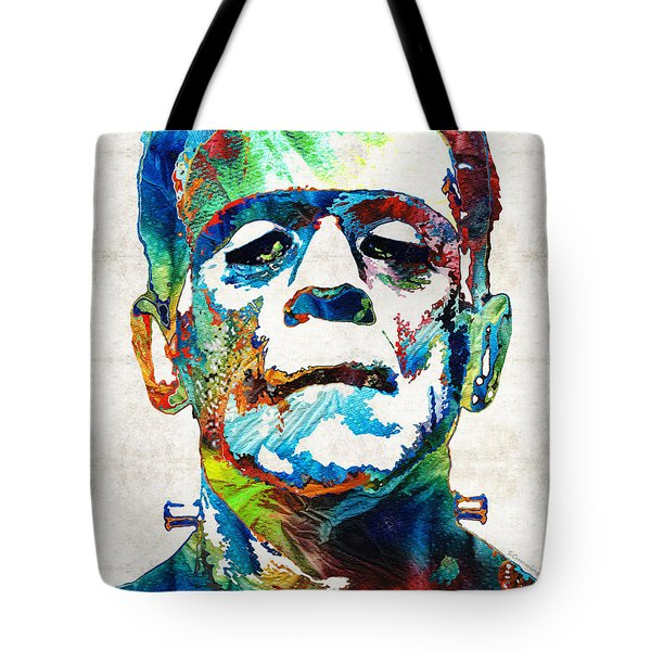 Frankenstein Art - Colorful Monster - By Sharon Cummings Tote Bag