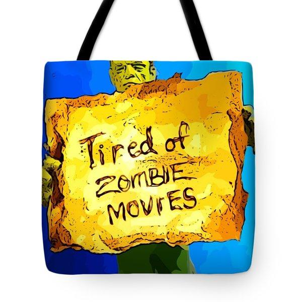 Frankenstein's Monster Turns Activist Tote Bag by John Malone