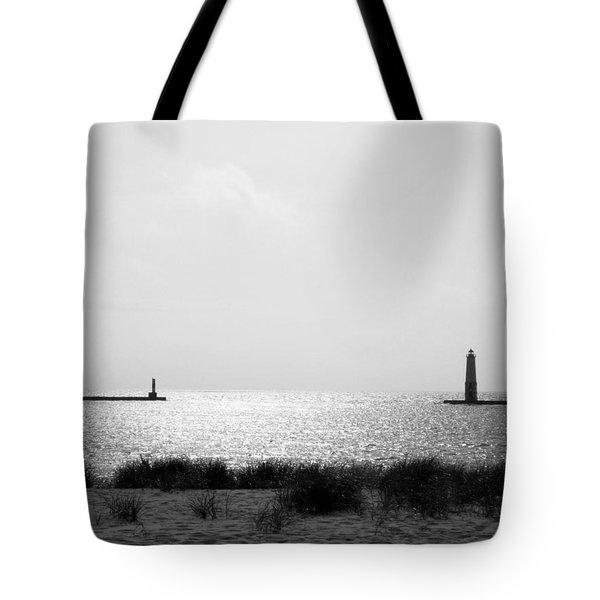 Frankfort Michigan Harbor Tote Bag