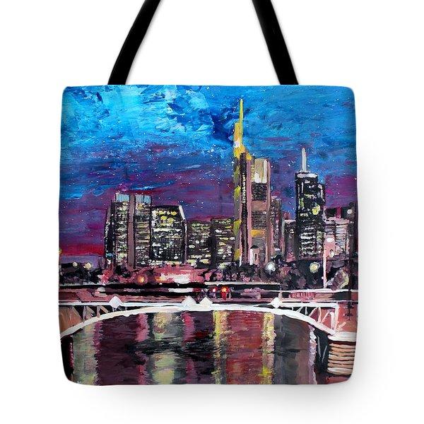 Frankfurt Main Germany - Mainhattan Skyline Tote Bag by M Bleichner