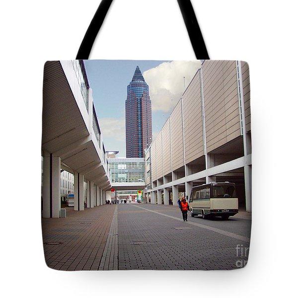 Frankfurter Messe Turm Tote Bag